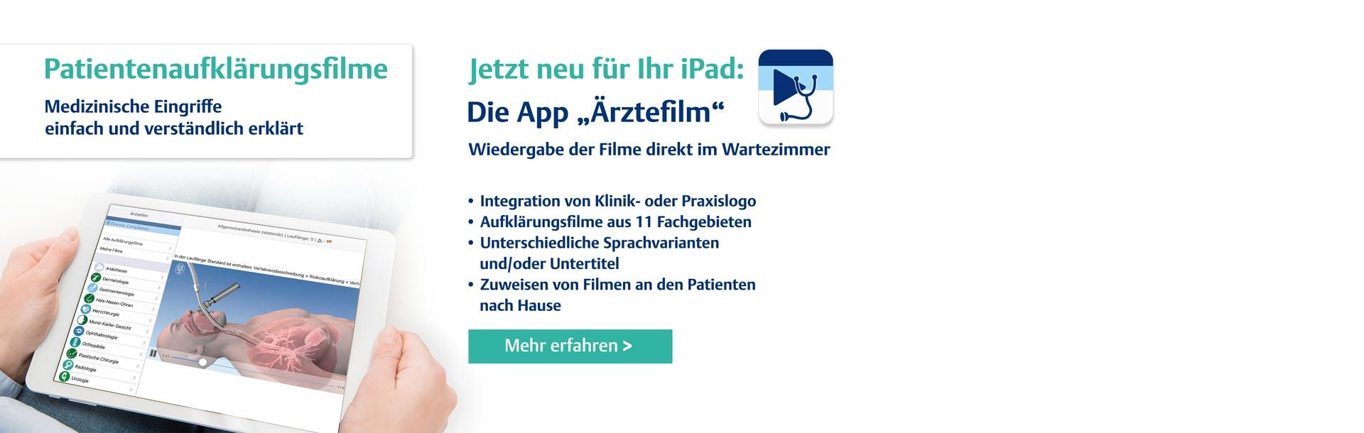 Slider Aufklärungsfilme Video-App Ärztefilm